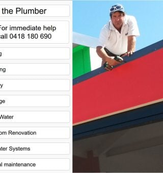 Paul the Plumber website designed by Abbeywebs