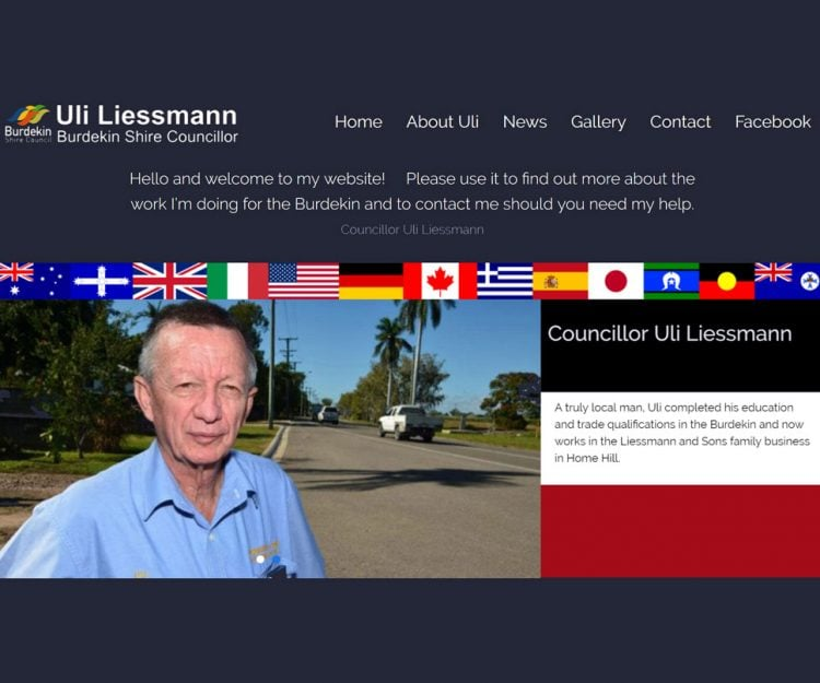Councillor Uli Liessmann's website designed by Abbeywebs